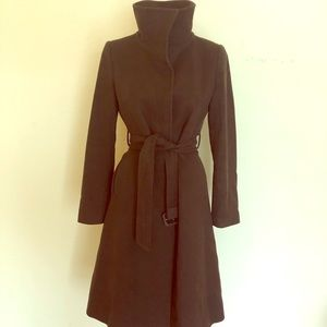 Burberry Brown Wool Cashmere Belted Midi Car Coat